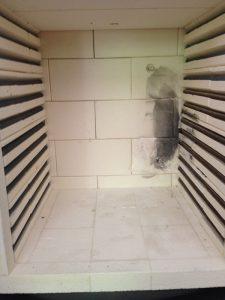 Accident de cuisson changement briques