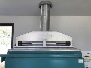 Hotte et cheminée automatique pour four Enitherm