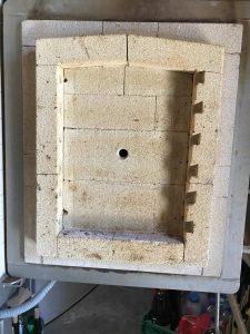 Remise en état d'un four Nabertherm - Vue de la porte du four